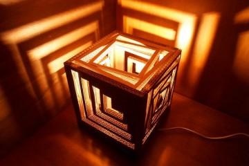 Ấn tượng với chiếc đèn ngủ làm bằng giấy