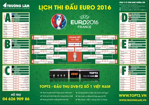Nhận In Lịch B 243 Ng đ 225 Euro 2016 In Lịch Thi đấu B 243 Ng đ 225
