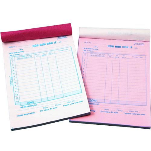 Dịch vụ in hóa đơn bán lẻ 2 liên giá rẻ tại Hà Nội