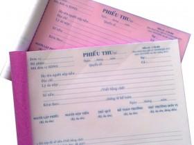 In phiếu thu chi giá rẻ tại Hà Nội