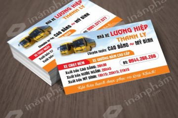 Chuyên in card giá rẻ cho các nhà xe tại bến xe Mỹ Đình