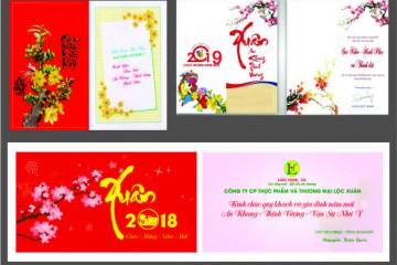 Chuyên In Thiệp chúc Tết, Thiệp chúc mừng năm mới tại Hà Nội